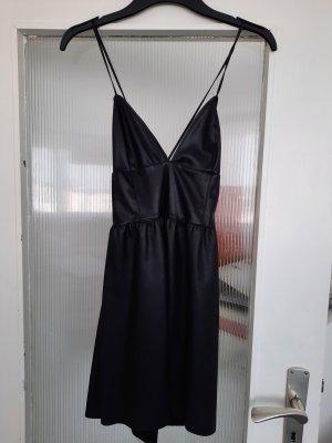 Zara Vestido de cuero negro