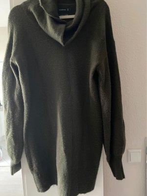 Reserved Vestito di lana verde scuro