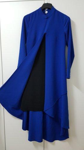 Sukienka tunika czarny-niebieski