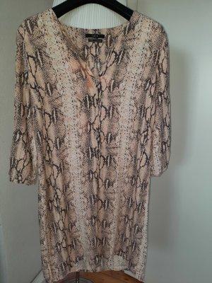 Set Sukienka tunika jasnobrązowy