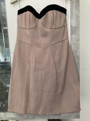 Tara jarmon Sukienka z dekoltem typu bandeau czarny-stary róż Poliester