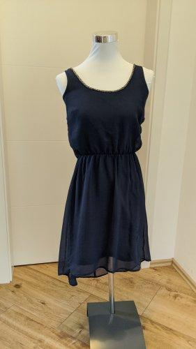 Be only Chiffon Dress dark blue polyester