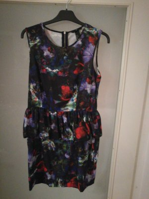 H&M Peplum Dress multicolored
