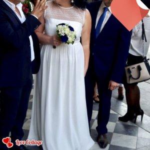 Barbara Schwarzer Robe de mariée blanc cassé