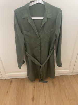 Vestido tipo blusón caqui