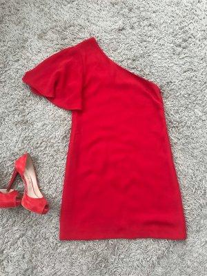 Mango Sukienka na jedno ramię czerwony