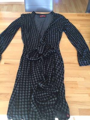 Edc Esprit Vestido cruzado negro-gris