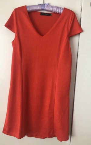Cortefiel A Line Dress red