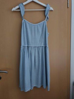 Billabong Sukienka z rękawem balonowym błękitny-szaro-zielony Bawełna
