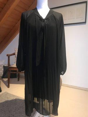 Made in Italy Szyfonowa sukienka czarny