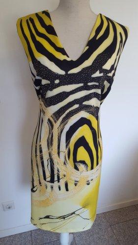 MIssy Abito elasticizzato nero-giallo