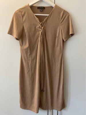 Primark Skórzana sukienka beżowy