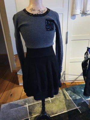 Tuzzi Vestido de tela de sudadera gris oscuro
