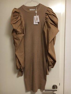 Jean Louis Francois Ołówkowa sukienka camel