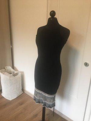 Mango Evening Dress black-white