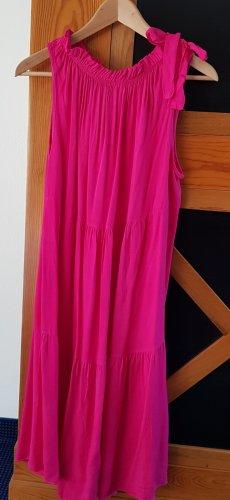 T-shirt jurk roze