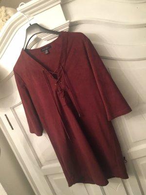 Amisu Robe t-shirt rouge carmin