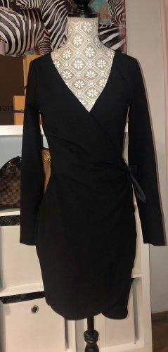 H&M Vestido cruzado negro