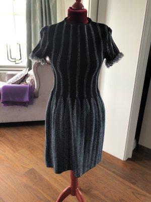 Emporio Armani Robe courte bleu foncé-blanc
