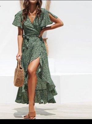 0039 Italy Maxi-jurk bos Groen