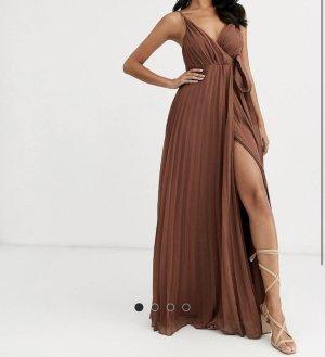 Asos Sukienka maxi brązowy