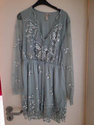 H&M Sequin Dress grey