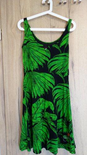 Desigual Sukienka na ramiączkach czarny-zielony