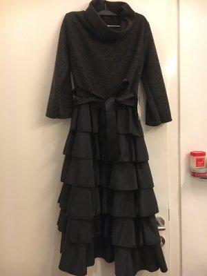 Sukienka z rękawem balonowym czarny-ciemnoszary
