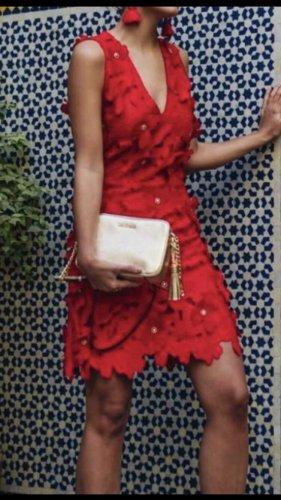Michael Kors Sukienka midi czerwony