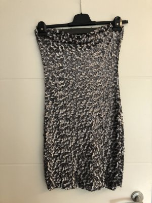 Danity Sequin Dress silver-colored