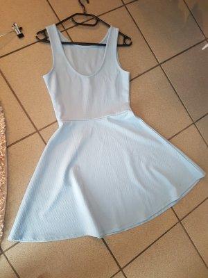 H&M Sukienka z baskinką błękitny