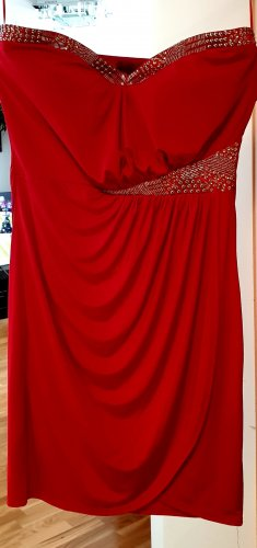 Sequin Dress neon red