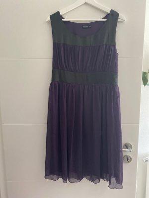 BODY FLIRT Midi-jurk zwart-braambesrood