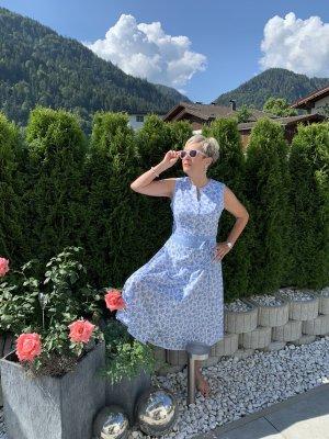 Berwin & Wolff Sukienka o kroju litery A błękitny-biały