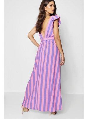 Bohoo Robe de cocktail violet-rose