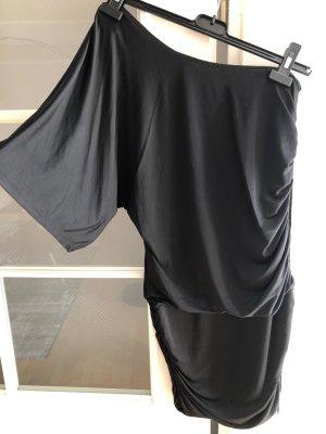 Amisu Jurk met korte mouwen zwart