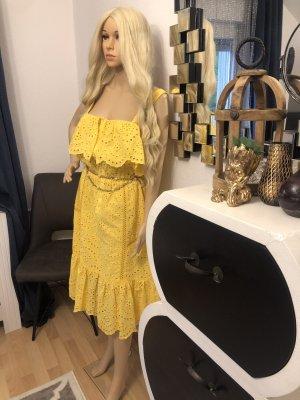 7 For All Mankind Sukienka midi żółty