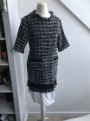 MSGM Midi Dress white-black