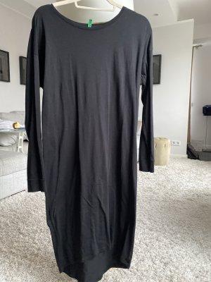 Benetton Sukienka z długim rękawem czarny Bawełna