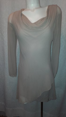 Sukienka tunika jasnobeżowy