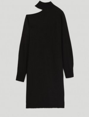 Massimo Dutti Midi Dress black