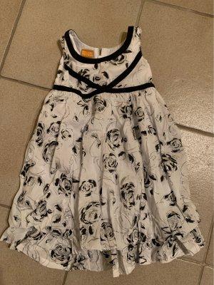 vestido de globo blanco-negro