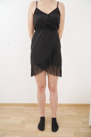 Fringed Dress black
