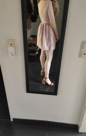 Colloseum Sukienka z baskinką stary róż-różany