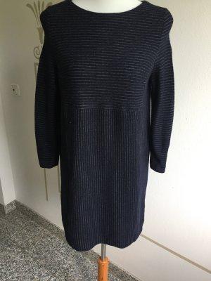 Bogner Woolen Dress dark blue-pale blue wool