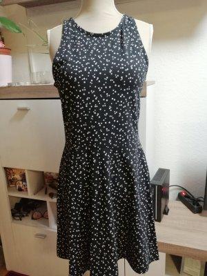 Clockhouse A-lijn jurk wit-zwart