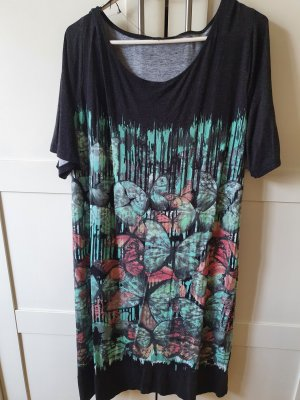 Sukienka dresowa czarny-jasnozielony