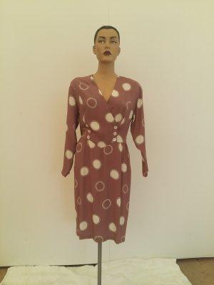 Burberrys of London Robe mi-longue gris lilas soie