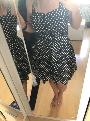 Aprico Sukienka koktajlowa ciemnoniebieski-biały