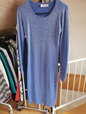 ebelieve Swetrowa sukienka niebieski neonowy